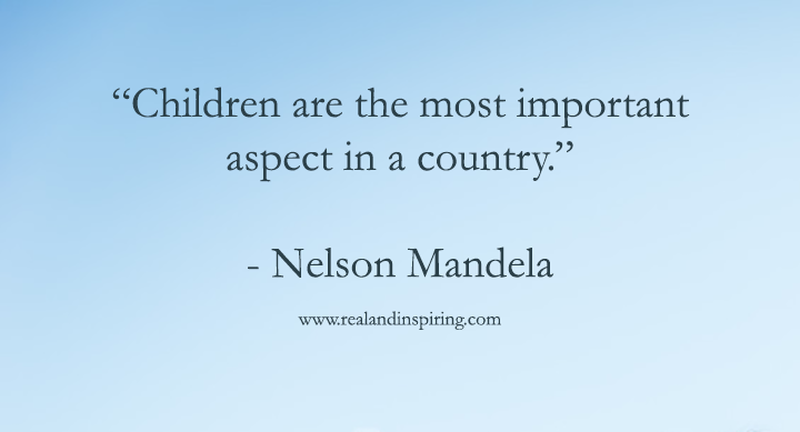Nelson Mandela Child Quote