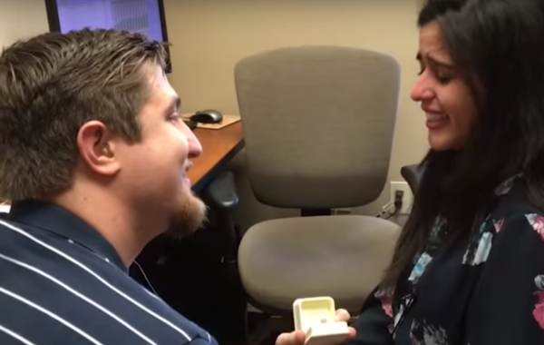 Deaf Woman Hears Marriage Proposal