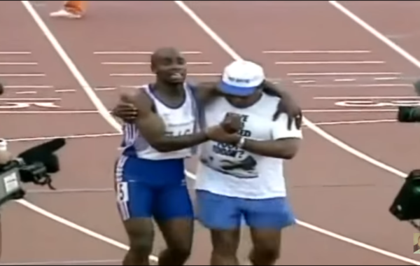Derek Redmond Crosses the Finish Line