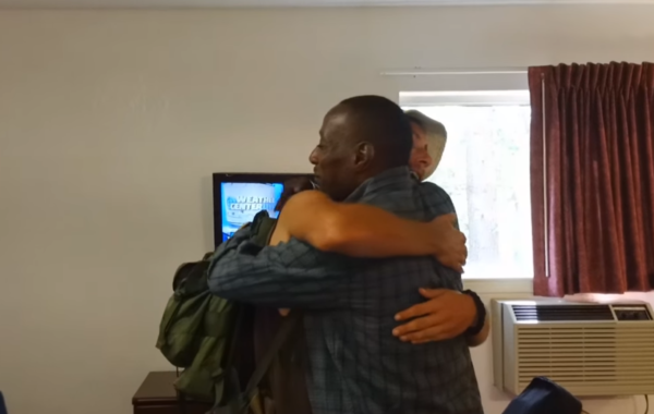 Former Homeless Man Helps a Homeless Man